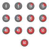 Set of simple timers Royalty Free Stock Photo