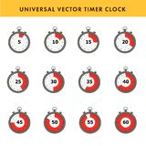 Set of simple timers. Stock Photos
