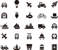 Set of simple transportation icons Royalty Free Stock Image
