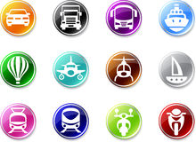 Set of simple transport icons. Stock Image