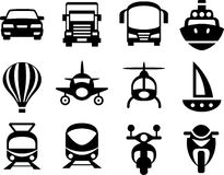 Set of simple transport icons. Royalty Free Stock Images