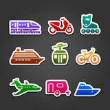 Set simple transportation color icons Royalty Free Stock Image
