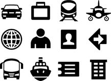 Set of simple travel icons. Royalty Free Stock Photo