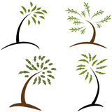 Set of Simple Trees Stock Images