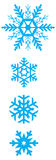 Set of simple varied geometric snowflakes. Vector set of simple varied geometric snowflakes Royalty Free Stock Photos
