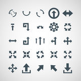 Set of simple vector icons arrows.  stock illustration