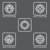 Set of simple vector icons  finance and insurance. Set of simple vector icons on the theme of finance and insurance Royalty Free Stock Photos
