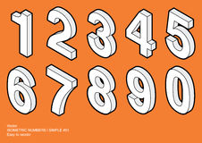 Isometric Numbers   Simple #01 Stock Image