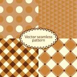 Set simple vector seamless pattern Stock Photo