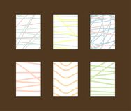 Set of simple vertical backgrounds with scribbles and lines. vector illustration