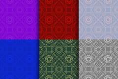 Set of simple vintage geometric background vector illustration
