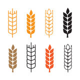 Set of simple wheat ears icons Stock Photography