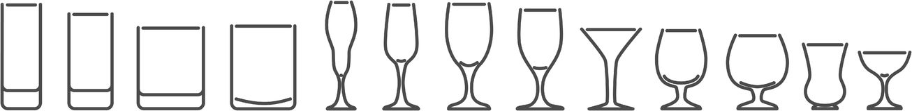 Set of simple wine glasses Stock Photography