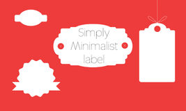 Set of simply minimalist labels Stock Photo