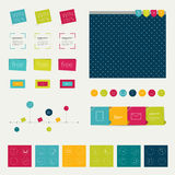 Set of simply minimalistic flat infographic elemen Royalty Free Stock Photography
