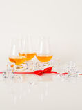 Set of single malt tasting glasses, single malt whisky in a glas Royalty Free Stock Photo
