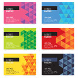 Set Of Six Abstract Name Card. Vector Illustration Royalty Free Stock Photography
