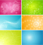 Set of six backgrounds Royalty Free Stock Photo