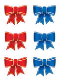 Set of six bows Stock Photos