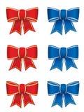 Set of six bows royalty free illustration
