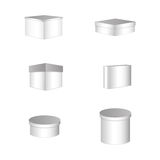 Set of six boxes Royalty Free Stock Image