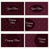 Set of six business cards. Stock Photos