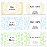 Set of six business cards. Vintage pattern in retro style with mandala. Hand drawn Islam, Arabic, Indian, lace pattern Stock Images