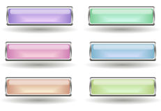 Set of six buttons Stock Images