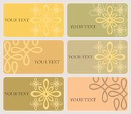 Set of six cards with elegant pattern Royalty Free Stock Photo