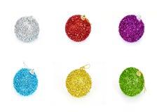 Set of six christmas balls Stock Images