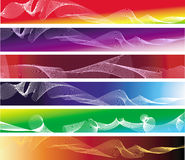 Set of six colorful abstract banners. Set of six colorful banners Stock Photography