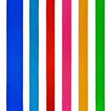Set of six different color satin ribbons Stock Photography