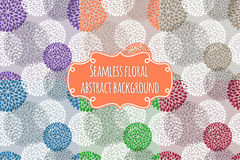 Set of six different color Seamless floral abstract backgrounds. Stock Image