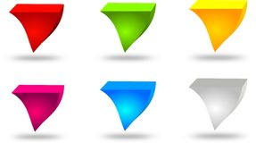 Set of six different colored buttons Stock Photo