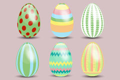 Set of six Easter eggs Stock Photo