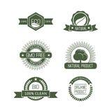 Set of six eco logos Royalty Free Stock Photos