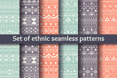 Set of six ethnic seamless patterns. Stock Photography