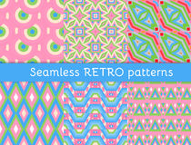 Set of six ethnic seamless patterns Stock Image