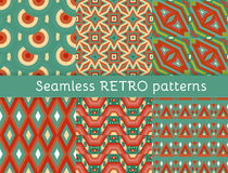 Set of six ethnic seamless patterns Stock Images