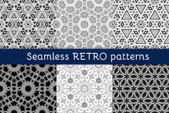 Set of six ethnic seamless patterns Royalty Free Stock Photos