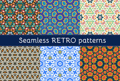 Set of six ethnic seamless patterns Royalty Free Stock Images