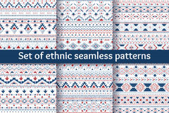 Set of six ethnic seamless patterns. Royalty Free Stock Images