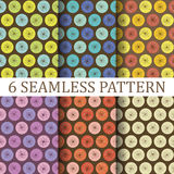 Set of Six Floral Seamless Patterns Royalty Free Stock Photos