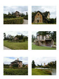 Set of Six French Countryside Homes Stock Photos
