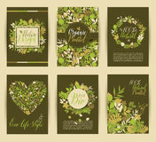 Set of six nature vector banners Stock Photo