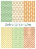 Set from six original samples . Stock Image