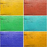 Set of six painted wooden textures Royalty Free Stock Images