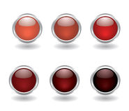 Set of six round buttons Stock Photography
