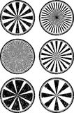 Set of six rubber stamps templates with rays. Set of six rubber stamps templates with rays Stock Photo