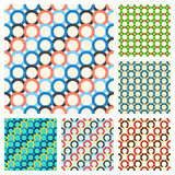 Seamless patterns, consisting of multicolored ring Royalty Free Stock Image